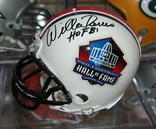 "WILLIE DAVIS Signed HOF Mini Helmet Autograph w/ COA PACKERS ""HOF 81"" AUTO"