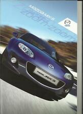 MAZDA MX-5 SOFT TOP AND ROADSTER COUPE SALES BROCHURE APRIL 2009