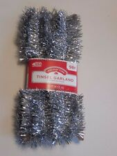 12 FT SILVER 1.5 InchTINSEL GARLAND CHRISTMAS VALENTINES PATRIOTIC  DECORATION