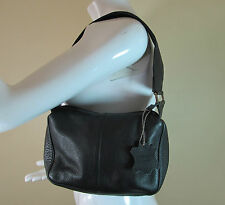 ORAN black thick quality grain soft leather bag handbag purse R14785