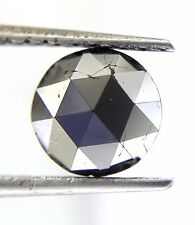 0.75TCW 6.5 MM Round Rose cut Jet Black AAA Color African Natural Loose Diamond