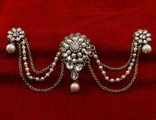 Bridal Goldtone Traditional Hair Accessory Bun Pin Ambada Style Indian Jewelry
