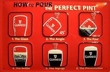 Guinness perfect Pint Blechschild Schild Blech Metall Metal Tin Sign 20 x 30 cm
