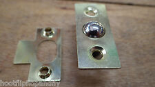 "1/2"" 12mm SMALL BRASS BALES ROLLER BALL BEARING DOOR CATCH MORTICE NO 5"
