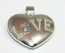 Chopard 18ct White Gold Happy Diamond Heart Pendant