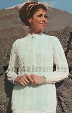 Knitting Pattern Ladies Classic Aran/Cable Jacket/Cardigan.34 to 42 Inch Bust.