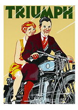triumph motorbikes vintage old antique A1 SIZE PRINT -poster  FOR YOUR FRAME