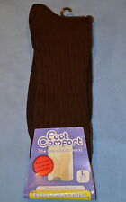 6pr Women's Non-Elastic Non-Binding Brown Diabetic Socks Fits Shoe Size 11-12