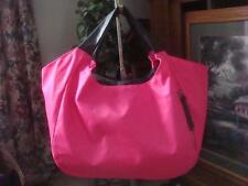 NWOT~ MARK. BY AVON~ BRIGHT PINK & GRAY NYLON TOTE BAG ~ZIP POUCH ~WELL POCKETED