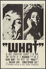 "WHAT! The Whip and the Body 1965 Poster 27""x41"" F/VF 7.0 Christopher Lee"