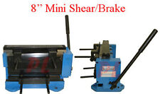 Mini 8'' x 18 Gauge Shear Brake Bender Sheet Metal Brass Cutter Cutting
