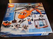 LEGO City new 60034 Arctic Helicrane Helicopter Crane Building Toy sled dogs