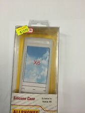 Nokia X6 Fitted Silicone Case Cover in White SSNOKX6 - A Brand New Original Pack