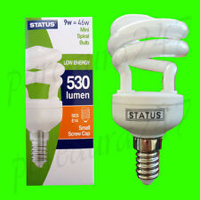 7x 9W (=46W) Power Saving A RATED Spiral Bulb SES E14 UK STOCK. SUPER SAVER DEAL