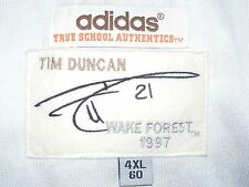 Tim Duncan Wake Forest Jersey #21 adidas True School Authentics 1997 Mens 4XL 60