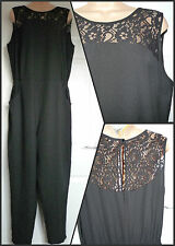 NEW PAPAYA Size 10 12 14 LACE SHOULDER JUMPSUIT Party Play Suit Matalan