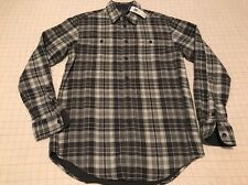 Polo Ralph Lauren Gray & Cream Plaid Button Up Shirt Relaxed Fit Women's S NWT