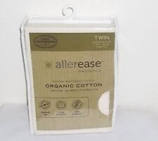 Allerease Naturals Organic Cotton Allergy Protection Fitted Mattress Cover TWIN