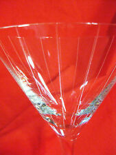 """Stunning ROMANIAN Mouth Blown MARTINI GLASS 8"""" Tall - Vertical Etched Design"""
