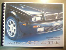 Betriebsanleitung MASERATI Biturbo 430  430 4v deutsch francais Owners Manual