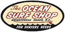Ocean Surf Shop N.Carolina  Vintage-Style Travel  Decal