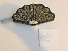 NWT Kate Spade Dress The Part Fan Coin Purse Black PWRU 5126 Brand New! $98