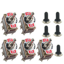 5 X Heavy Duty 20A 125V DPDT 6Pin On/Off/On Rocker Toggle Switch Momentary Knob