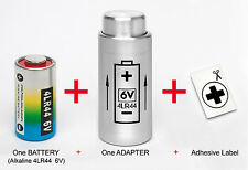ADAPTER + ONE BATTERY : FOR YASHICA ELECTRO 35, MG-1, AX - ( PX32 to 4LR44 )