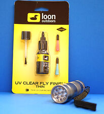 LOON UV Kleber THIN 2 Dosier-Spitzen & Pinsel & UV LAMPE UV THIN & UV TORCH