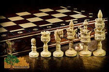 LOTUS - 41cm / 16.2in Wooden Handcrafted Beautiful Rosewood Chess Set