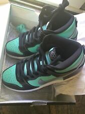 Diamond Supply Co. Nike Dunk High Premium SB Tiffany Aqua Chrome Black DS sz10