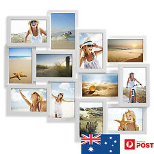 UNIGIFT 12 IN 1 WOODEN COLLAGE PHOTO FRAME PACIFIC WHITE - NEW MUM XMAS GIFT