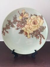 Vintage Yellow Rose Hand painted by Hazel Sarkisian 1953 Collector's Plate 8.25""