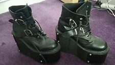 Big Goth Rave Industrial platform boots with changeable parts
