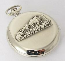 Molnija RAILROAD Vintage Soviet USSR ANTIQUE Mechanical Pocket watch 1970s TRAIN