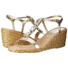 Ralph Lauren Size 5 38 Gold Gemstone Espadrille Wedge Sandals RRP £110 New Box