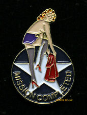 MISSION COMPLETED NOSE ART HAT LAPEL PIN UP ARMY AIR CORPS VETERAN GIFT MODEL