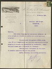 71 CRECHES FACTURE COURRIER COLLIN BOURISSET VIGNOBLES 1920