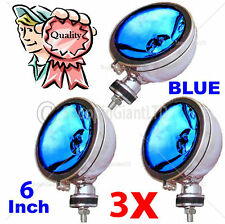 "3X 6"" Blue Angel Eye Halogen H3 Spotlights Spot Fog Light For Car Van Scooter"