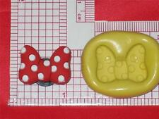 Minnie Bow Flexible Silicone Push Mold Candy A615 Fondant Chocolate Craft Resin