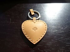 Gorgeous 100% Authentic Mulberry Brown Leather Heart Bag Charm, Keyring