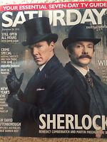 Sherlock BENEDICT CUMBERBATCH martin freeman PHOTO COVER SATURDAY MAGAZINE 2015