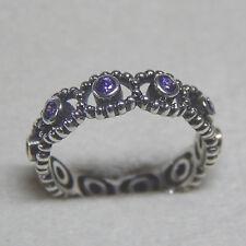 New Authentic Pandora Ring 190881ACZ Her Majesty purple 54 (7) Box Included