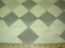 ~1 4/8 YDS~MODERN DIAMOND~EMBROIDERED FAUX LEATHER UPHOLSTERY FABRIC FOR LESS~