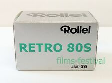 10 rolls Rollei RETRO 80S Black and White 35mm Film 135-36