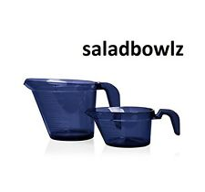 TUPPERWARE New 2 CUP 1 CUP MICRO PITCHER SET in Indigo BLUE iNsTOCK! fREEsHIP!