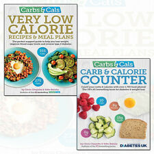 Chris Cheyette Carbs & Cals Very Low Calorie Recipes 2 Books Collection Set NEW