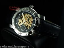 Invicta Men's 2048 Object D Art Automatique 18J Swiss Ebauche Leather Watch