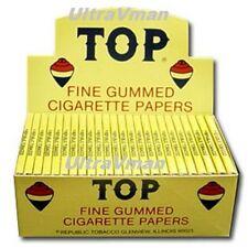 TOP FINE GUMMED CIGARETTE ROLLING PAPERS 24 BOOKLETS