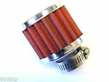18mm Large Crankcase Breather Filter RED/CHROME Universal Fitment, Oil Vent